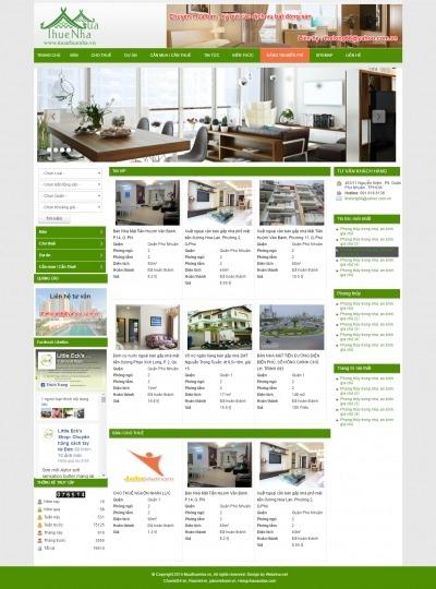 Thiết kế website muathuenha.net