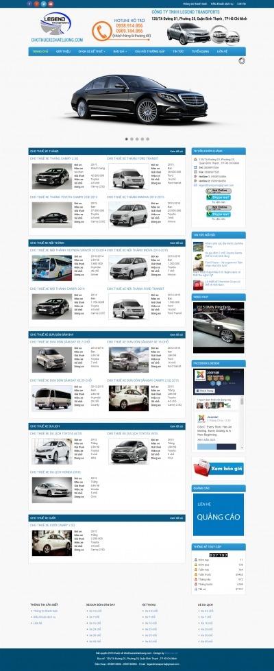 Thiết kế website chothuexechatluong.com