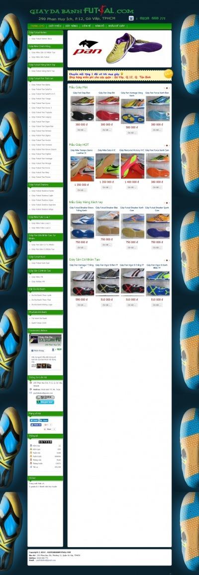 Thiết kế website giaydabanhfutsal.com