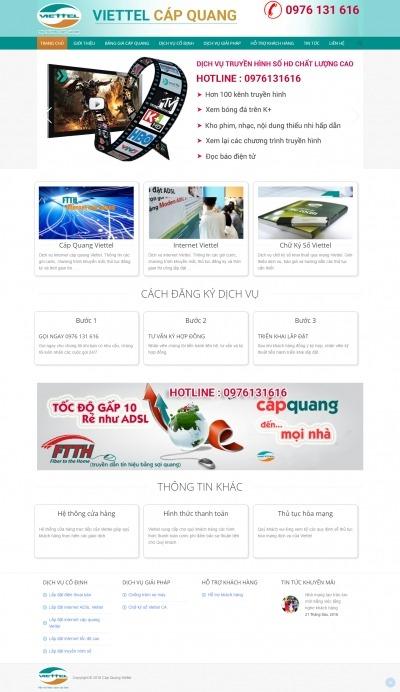 Thiết kế website viettelhcmcapquang.com