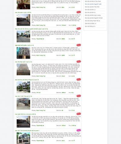 Thiết kế website bannhaquan2.vn