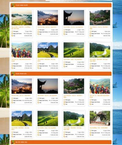Thiết kế website orangetravel.vn