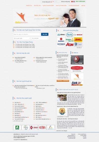 Thiết kế website jobsvietnam.vn