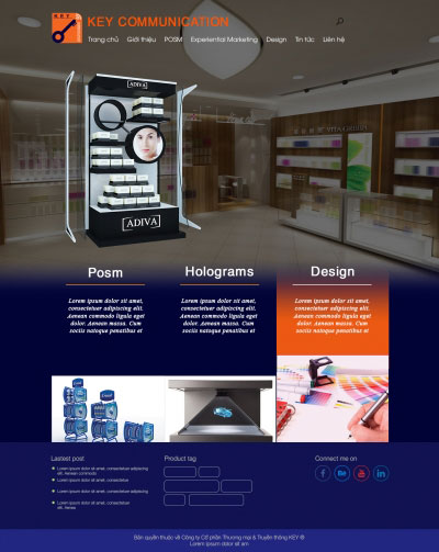 Thiết kế website keycom.vn