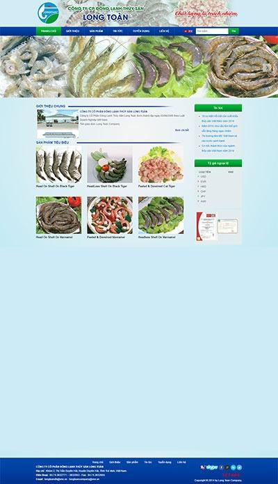 Thiết kế website longtoan.vn