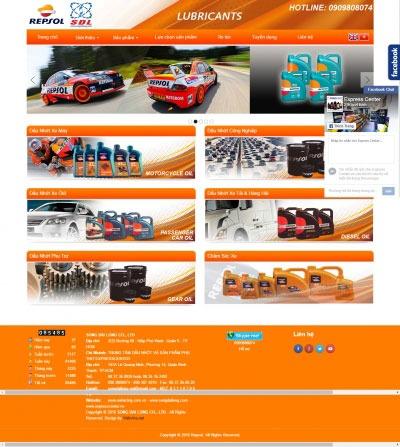 Thiết kế website repsolracing.com