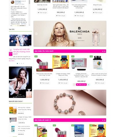 Thiết kế website vinhangelhangmygiasi.us