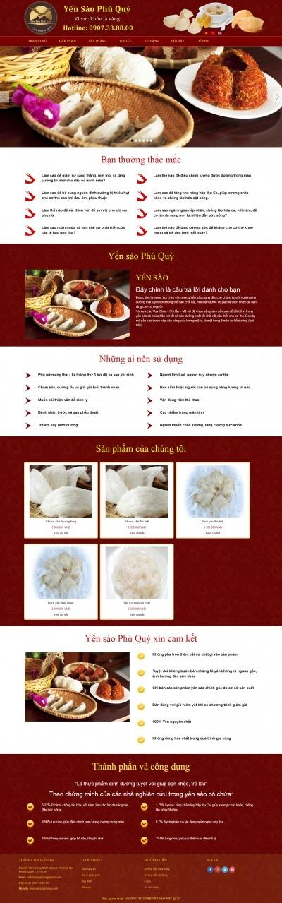 Thiết kế website yensaophuquy.com