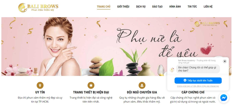 Thiết kế web học phun xăm